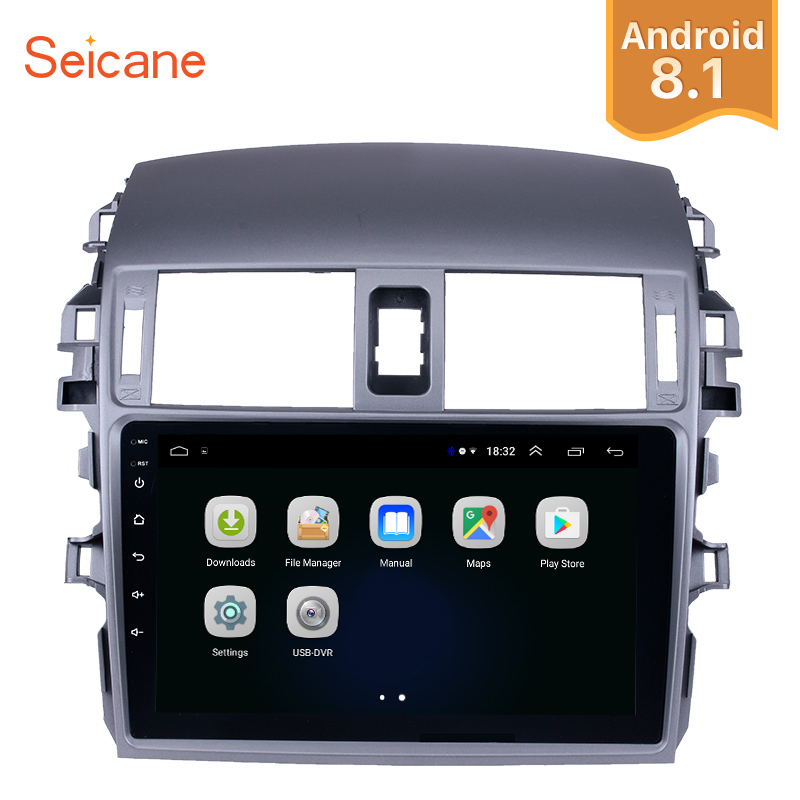 Seicane Android 8.1 9 Head Unit GPS Car Radio For 2007 2008 2009 2010 Toyota OLD Corolla 2Din Touchscreen Multimedia Player
