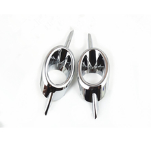 2Pcs/Set ABS Chrome Car Front Fog Light Cover Lamp Protect Frame Trim Bezel Sticker Fit For Chevrolet Cruze 2009-2014