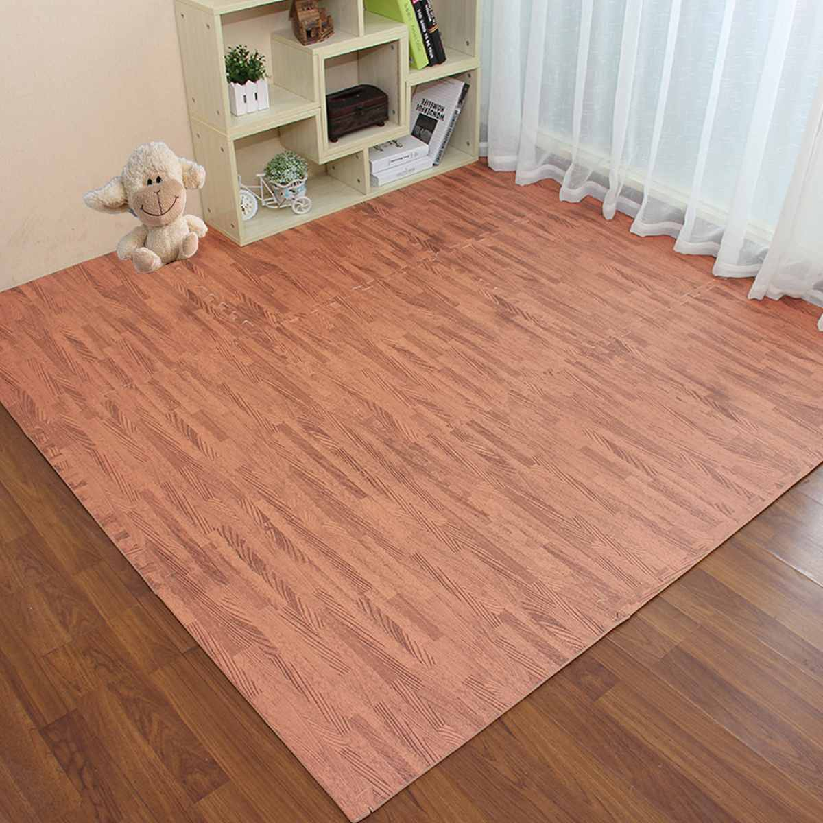 LBLA 1Pc Baby Soft Foam Floor EVA Foam Brown Easy Cleaning