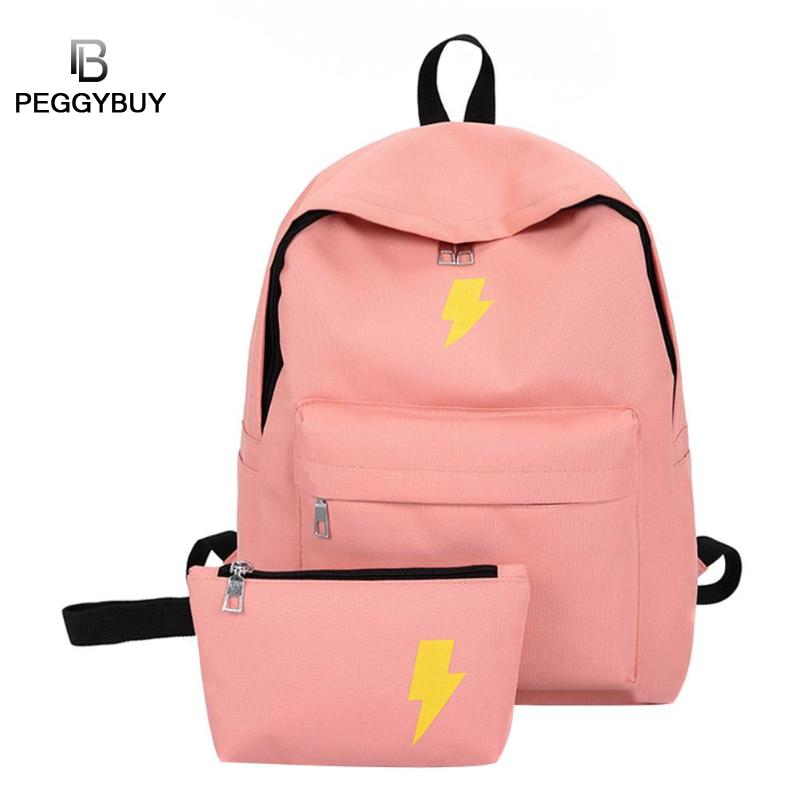 High Quality Canvas Printed Black Yellow Backpack Korean Preppy Style Students Travel Bag Girls School Bag Laptop Rucksack Set High Quality Canvas Printed Black Yellow Backpack Korean Preppy Style Students Travel Bag Girls School Bag Laptop Rucksack Set