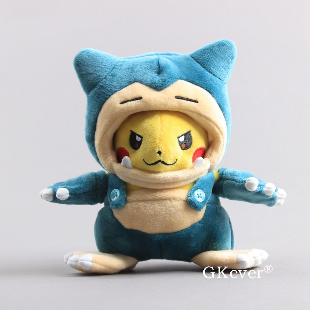 Anime Pikachu Snorlax Costume Plush Toy  Snorlax Kabigon Maniac Pikachu Soft Dolls Children Gift 8