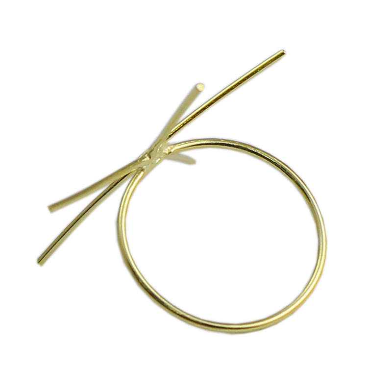 Beadsnice ID39494smt2 1 pc/lot anneau rempli d'or facile à monter anneau de bande d'or bijoux à bricoler soi-même anneau de griffe blanc - 3