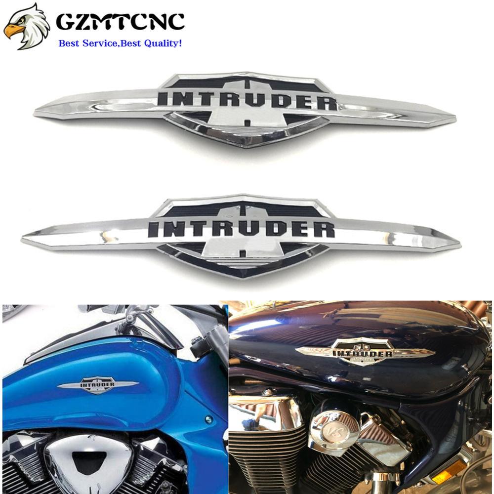 Pair Of Chrome Fuel Tank Left//Right Badge Emblem Sticker For Suzuki Intruder WE1