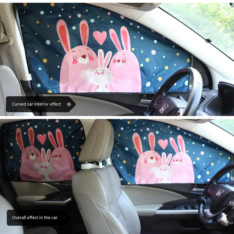 Auto Car Magnetic Sun Shade Cover Cartoon Sun Protection Heat Insulation Car Sun Curtain Suction Cup Christmas Gift