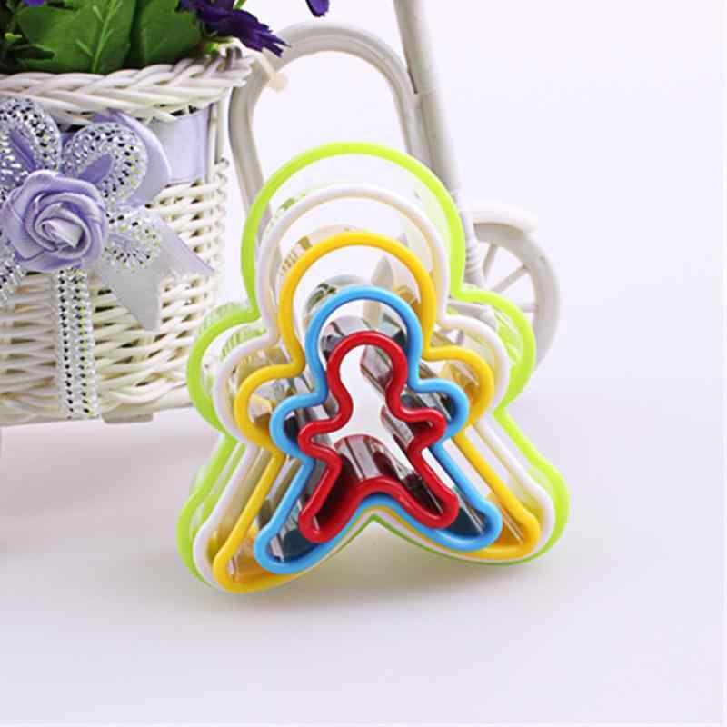 5 개/대 쿠키 비스킷 케이크 커터 금형 2019 플라스틱 diy 하트 모양 케이크 금형 플런저 양식 쿠키 장식 베이킹 도구