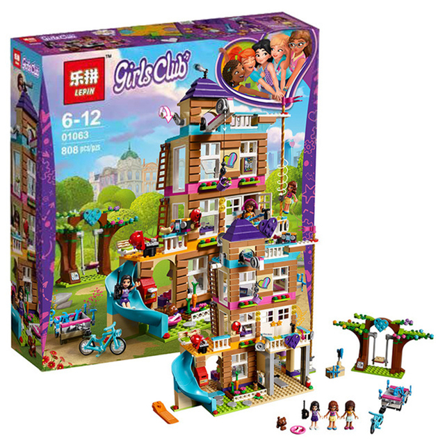 808pcs Building block kit Compatible with Lego building brick friend for girl Friendship House Minifigured sets toy for children