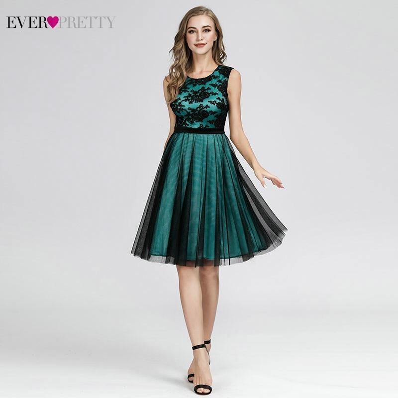 Appliques Bridesmaid Dresses Ever-Pretty A-Line Contrast Color Sleeveless Bridesmaid Dresses 2019 Robe Demoiselle D'honneur