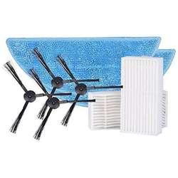 Сбоку Brushx4 ПК (2 пары) + Mop x2 pc + hepa фильтр x2 pc для ilife v50 робот вакуумные аксессуары