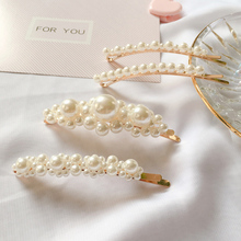 Hot Sale 1PC Girls Hair Clip High Quality fashion Pin Women Korean Pearl barrettes Handcraft Female Party Accessories