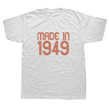 Made In 1949 70th Birthday Present Gift T Shirt Mens Short Sleeve Tops
