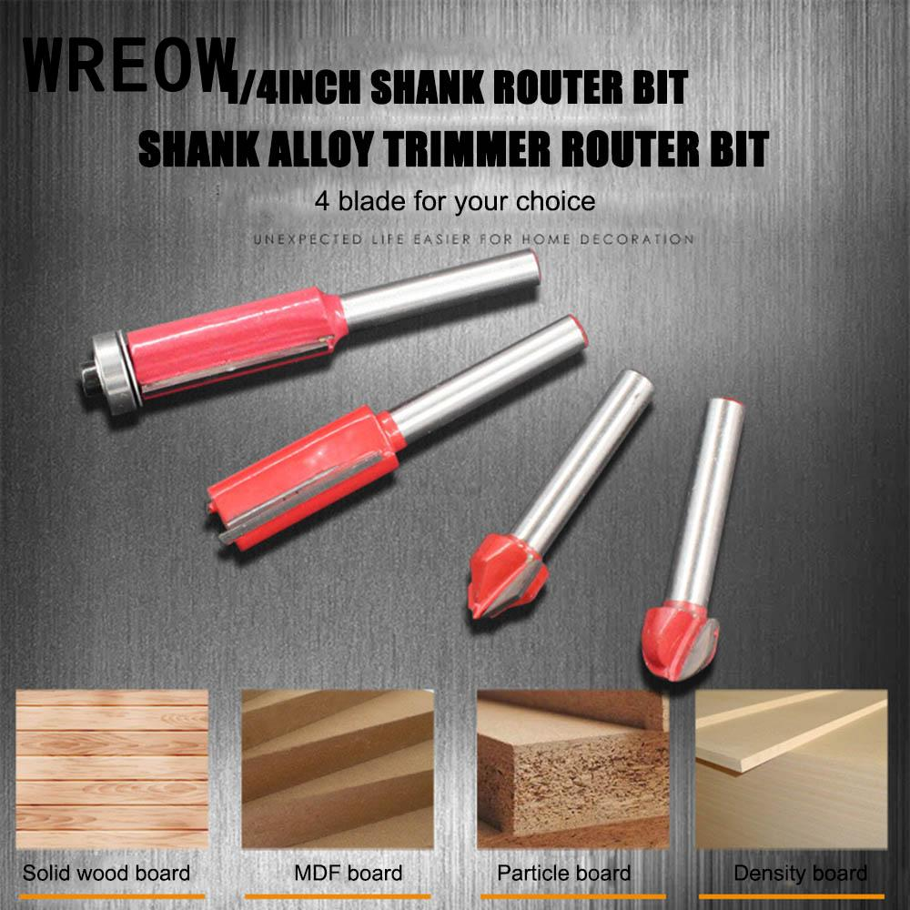 1/4inch Universal Machine Reamer Rotating Tool Shank Round Bottom Woodwork Milling Cutter Router Bit End Mill(6mm/8mm/10mm/12mm)