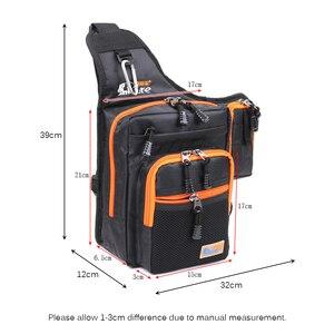 Image 4 - Sac de pêche imperméable en toile imperméable avec leurre, sac dextérieur et moulinet, sac de matériel de pêche, vert/Orange/noir