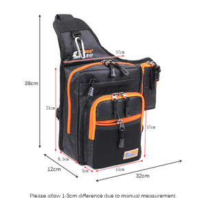Image 4 - iLure Waterproof Canvas Fishing Bag Multi Purpose Outdoor Bag Reel Lure Bags Pesca Fishing Tackle Bag Green/Orange/Black