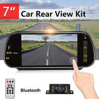 7 Inch TFT LCD Touch Screen bluetooth Car MP5 Player FM Transmitter Reversing Backup Camera Car Rear View Parking Mirror Monitor