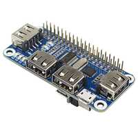 Cubo de 4 puertos USB para placa de extensión Raspberry Pi 3/2/Zero W USB a UART para depuración en serie Compatible con USB2.0/1.