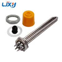 "LJXH 220V/380V DN32 Heating Element for Water 1.2"" 42mm Thread Immersion Water Heater Tube All 304 Stainless Steel with Locknut"