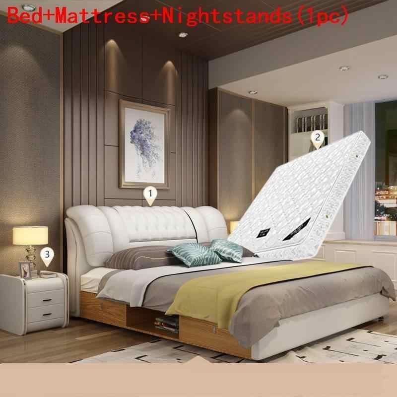 Maison Letto Totoro Mobili Per La Casa Room Yatak Odasi Mobilya Leather Mueble De Dormitorio Cama Moderna bedroom Furniture Bed
