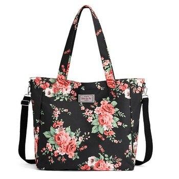 eab4df0096c Impreso bolsos para mujeres bolsos elegante Bolsa femenina Handtassen  mujeres adornos Floral Malas De Senhora último