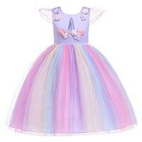 9e110a100c 2019 Children Party Dress Kids Girl Infantil Vestidos Christmas Princess  Dresses Unicorn Summer Frocks Girl Birthday