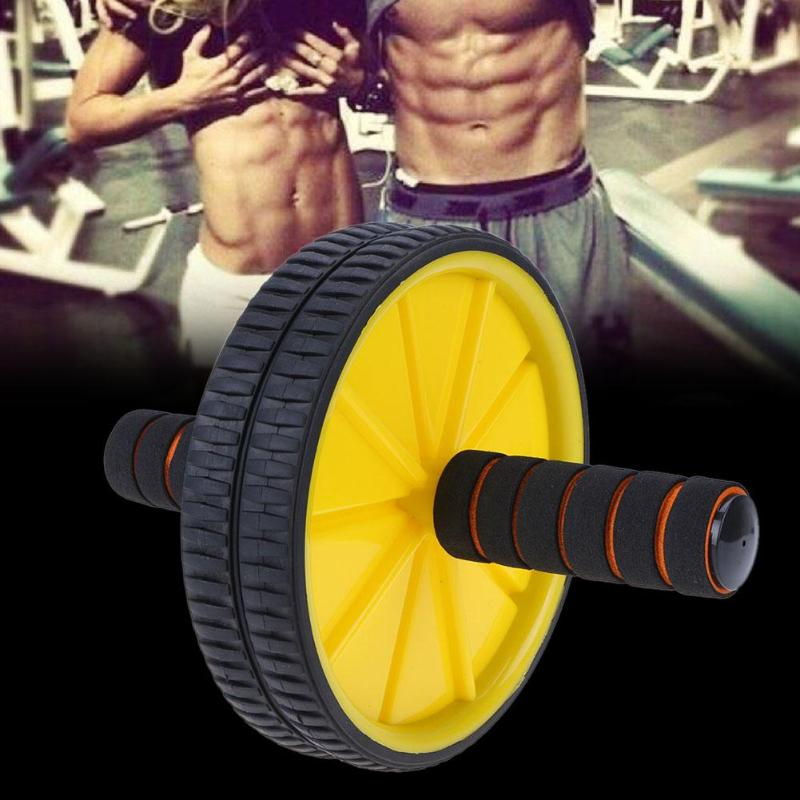 Double wheeled Updated Abdominal Press Wheel Roller Fitness Gymnastic Muscle Workout Wheel for Bodybuilding Home Gym Equipment in Slimming Product from Beauty Health
