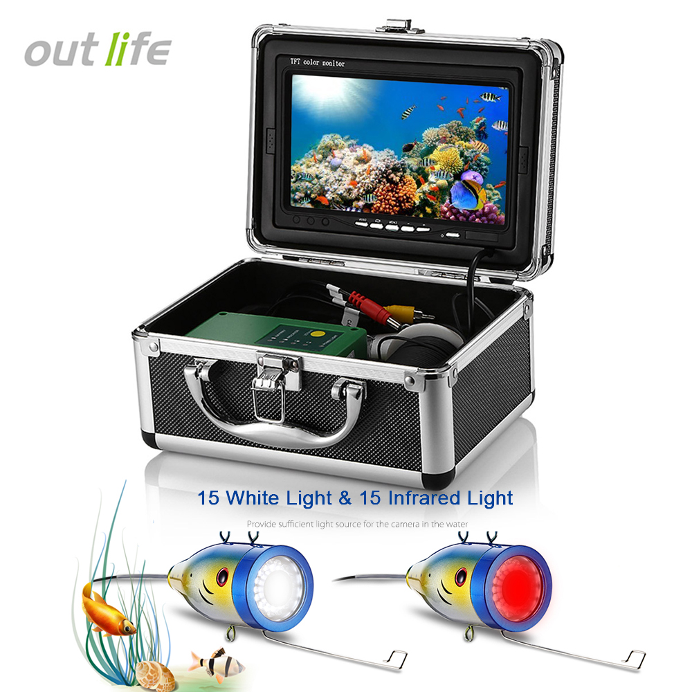 7.0 inch Display HD 1000TVL Underwater Fish Finder Fishing Underwater Camera 30pcs LEDs White Infrared Light 15/30M Cable EU/US