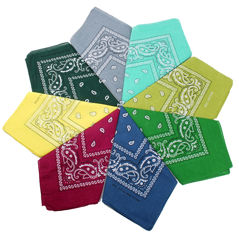 Classic Paisley Women Head Scarf Men's Hip Hop Bandana Scarf Bboy Head Piece Neckties Headscarf Cycling Face Mask Cool Headwear