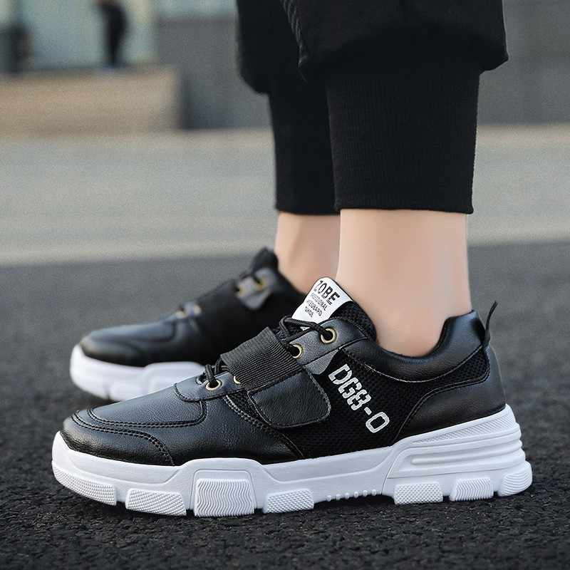 858c730b8811a ... Cpcook Spring Men Sneakers Fashion Breathable Lace Up White Men Casual  Shoes Adult Sneakers Male Trainers