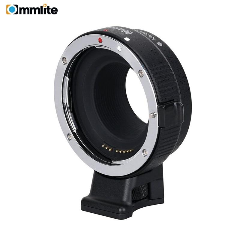 Commlite CM-EF-EOSM adaptateur d'objectif de mise au point automatique électronique pour objectif Canon EF EF-S à EOS M EF-M M2 M3 M5 M6 M10 M50 M100