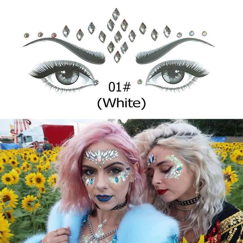 12338fc5b Detail Feedback Questions about 3D Crystal Glitter Jewels Tattoo Sticker  Women Fashion Face Body Gems Gypsy Festival Adornment Party Makeup Beauty  Stickers ...