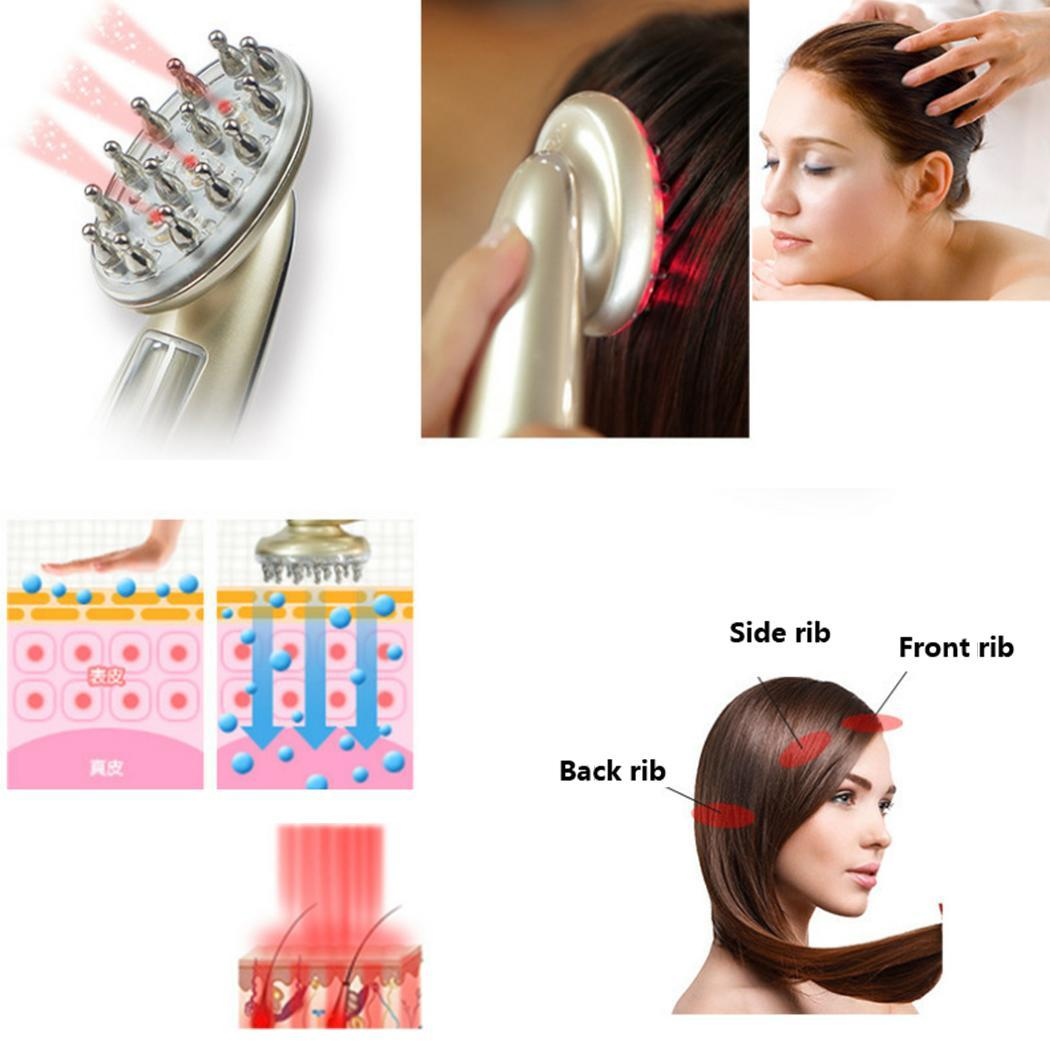 Laser Hair Growth Massage Comb Infrared AC 100-240V/50HZ Anti Hair Loss Hair Repair Vibration massage hair growth instrument