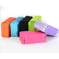 3 Layer Solid Pencil Case Office School Writing Sketch Supplies Portable Pens Storage Box Large capacity Stationery Gift