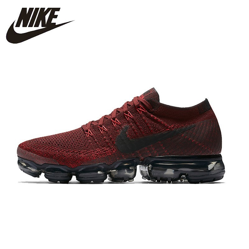 Nike Air Vapormax Flyknit chaussures de course confortables pour hommes noir et rouge baskets respirantes confortables #849558-601