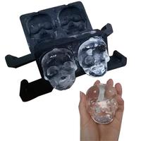 1pcs Ghost Head Silicone Whiskey Stones Ice Cubes bucket Magic Vodka Wine beer Cooler Bar KTV Whisky Holder chiller Tools