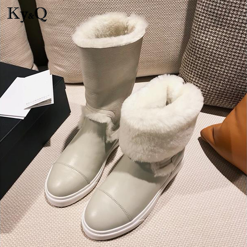 Winter Brand Round Head Solid Color Lady Shoes 2018 Sexy Hairy Genuine Leather Ankle Boots Woman Party Wedding Low HeelsWinter Brand Round Head Solid Color Lady Shoes 2018 Sexy Hairy Genuine Leather Ankle Boots Woman Party Wedding Low Heels
