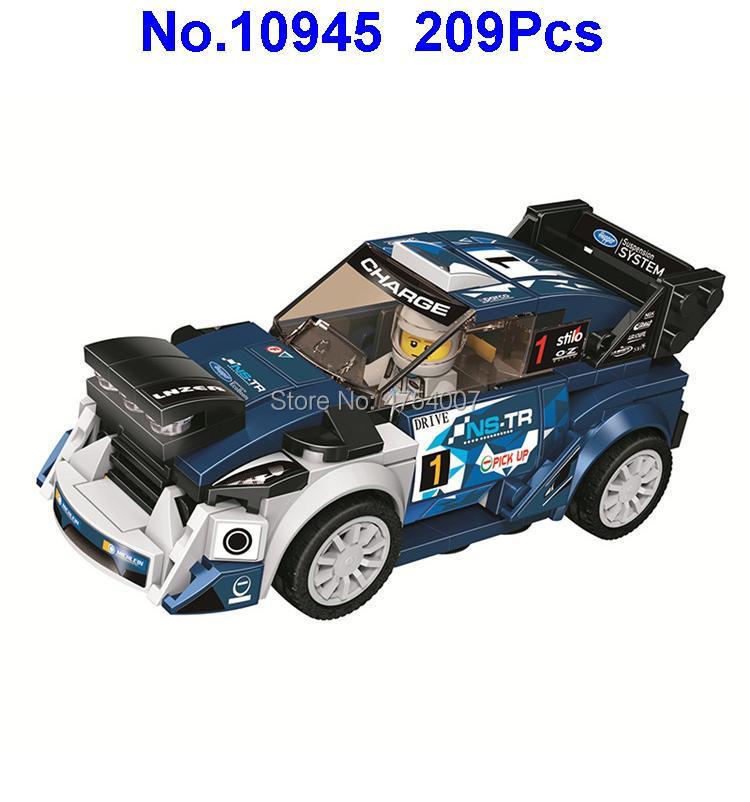 10945 209 Pcs Technic Blue Racing Auto Sportscar Supercar Bela Bouwstenen 75885 Speelgoed Factory Direct Selling Prijs