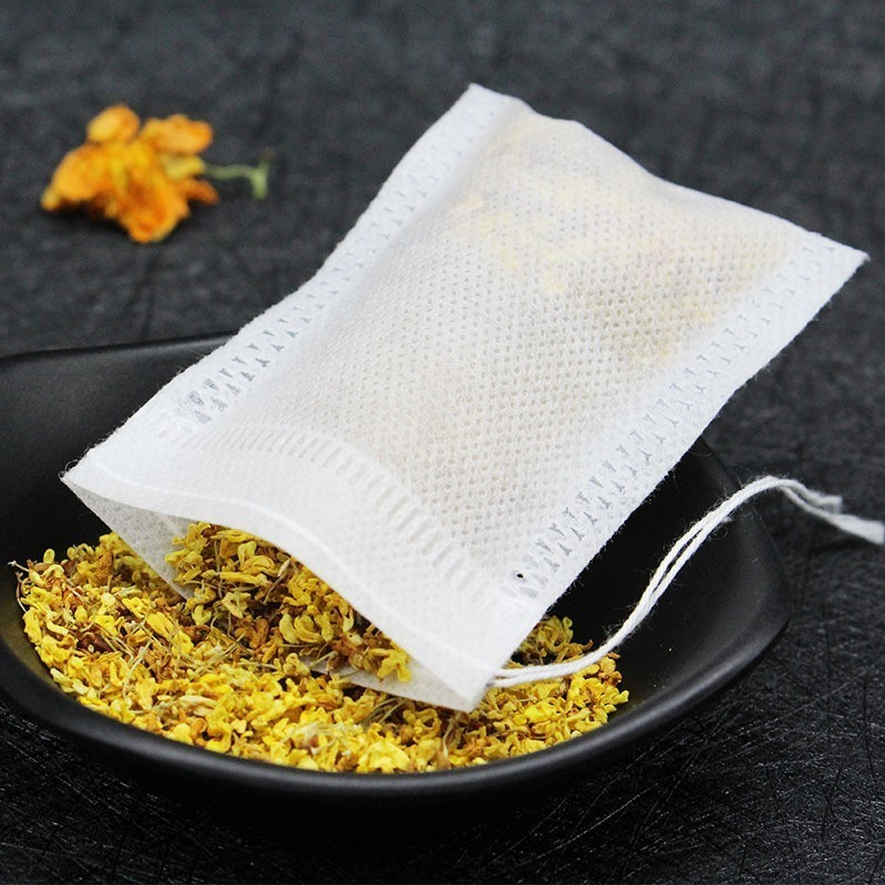100Pcs Lot Teabags Various specifications Empty Scented Tea Bags With String Heal Seal Filter Paper for Herb Loose Tea Bolsas de in Disposable Tea Bags from Home Garden