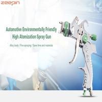 Zeepin Automotive Environmentally Friendly High Atomization Finish 1.4 / 1.7 / 2.0 mm Three head Pneumatic Paint Spray Gun