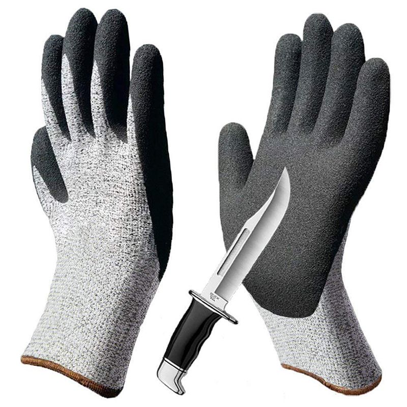 Nitrile Dipped Cut-proof Gloves Industry Grade 3/5 HPPE Cut Resistant Gloves Hppe Anti-Cut Glove Kitchen Men Safety Gloves S-XlNitrile Dipped Cut-proof Gloves Industry Grade 3/5 HPPE Cut Resistant Gloves Hppe Anti-Cut Glove Kitchen Men Safety Gloves S-Xl