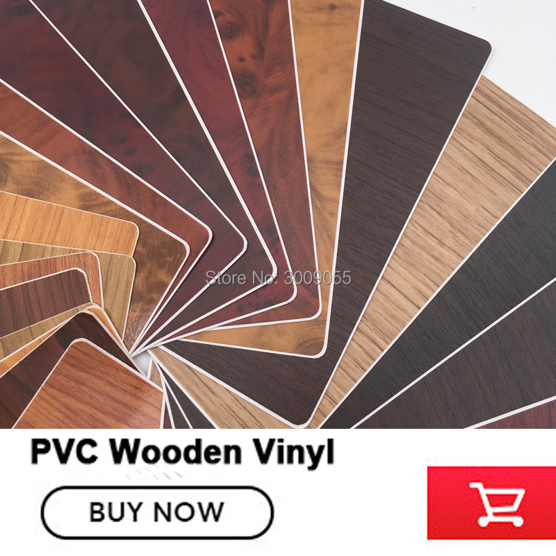 Autocollant Auto-adhésif imperméable de voiture de décalque de meubles de Film de vinyle en bois de pvc mis à niveau