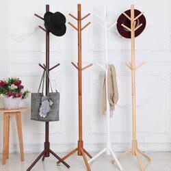Вешалка из цельной древесины пол вешалка для пальто Творческий дом мебели одежда висячая стойка для хранения деревянная вешалка Спальня
