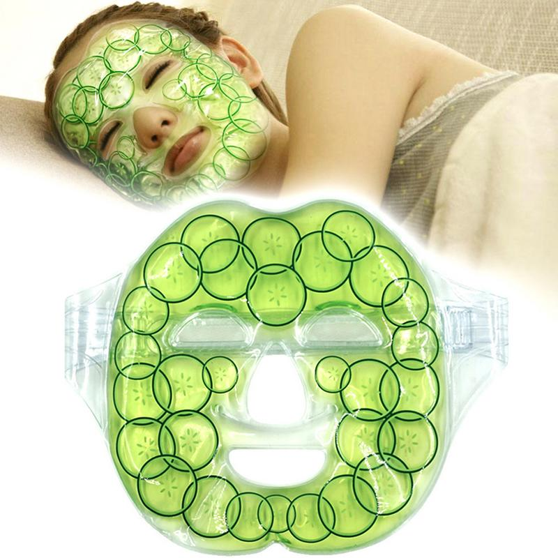 1Pcs Cucumber Cold Gel Face Mask Cold Pad Heat Compress Fatigue Relief Relaxation Shrink Pores Reduce Wrinkles Face Care