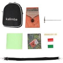 Musical-Instrument Mahogany Wood Thumb-Finger-Piano Kalimba 17-Keys Portable African