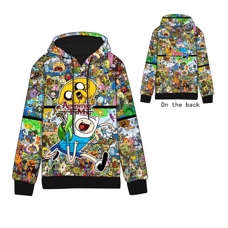 Anime  Adventure Time With Finn And Jake Cotton Cosplay Hoodies Standard Hooded   Winter  Hoodie Sweatshirts Men