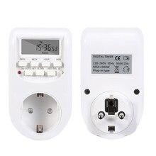 Interrupteur numérique intelligent, minuterie réglable, économie d'énergie, prise d'alimentation intelligente, Programmable, réglage de l'horloge/marche/arrêt