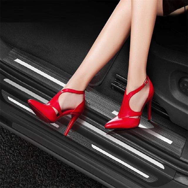 Foot Pedal Exterior Bright Sequins Car Styling Sticker Strip Mouldings Accessories 09 10 11 12 13 14 15 16 FOR Audi A4L
