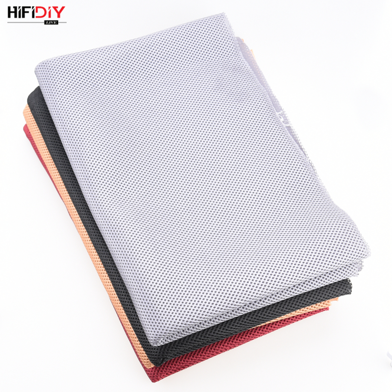 HIFIDIY LIVE Speaker Grill Cloth Stereo Fabric Gille Mesh Cloth Speaker Protective Accessories White Brown Silver Black 1.5*0.5 4