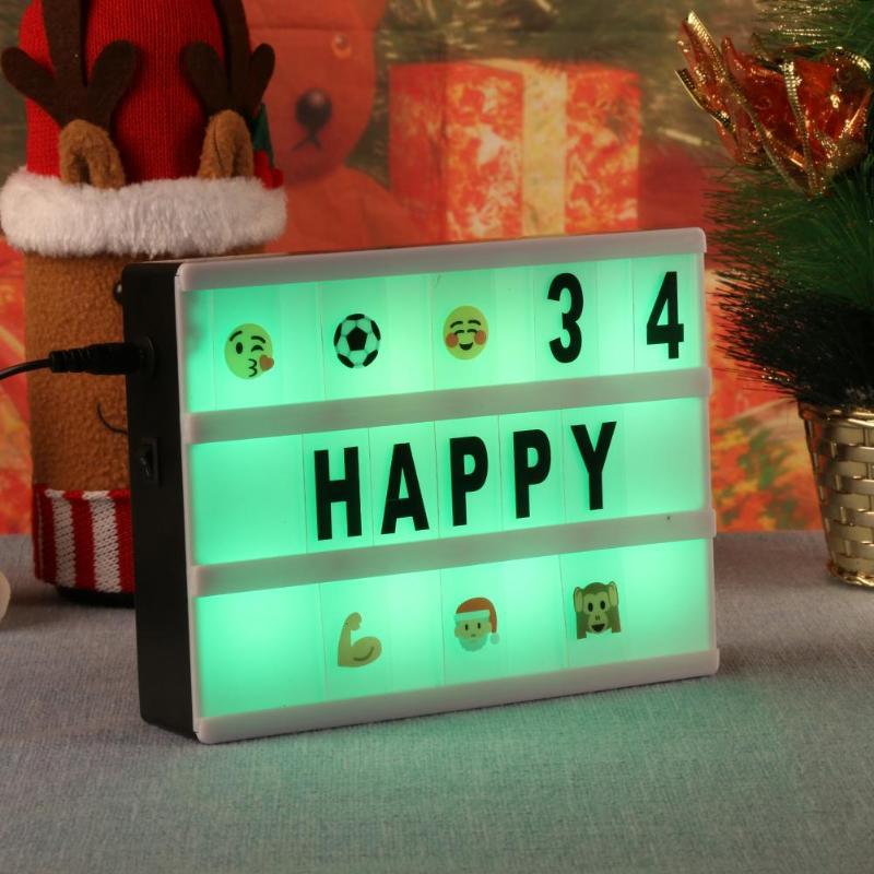 A4x95/A5x160 Рождественская надпись 7 цветов Изменение кинематографичное освещение коробка светодиодный сообщение знак кинотеатр коробка вечер