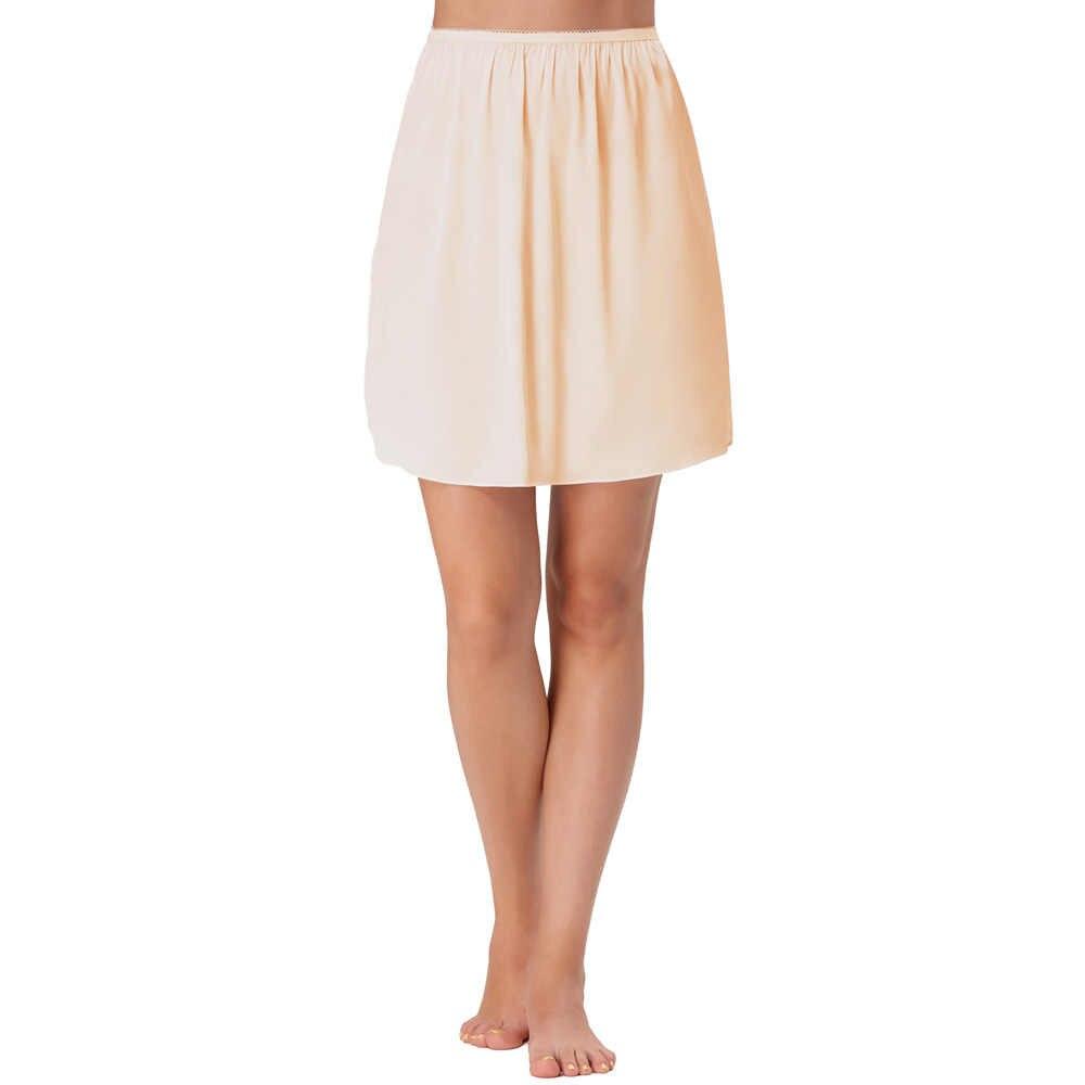... Femmes Satin Élastique Taille Slip Courtes Sous-Vêtement Jupon Jupon ... 2920f0f076a