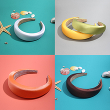 Flatfoosie 2019 New Trendy Silk Hair Headband Hair Thick Headbands Accessories F