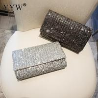 Women's Rhinestone Clutch Crystal Evening Bags Wedding Party Cocktail Prom Evening Chain Purse Handbag Shoulder Bag